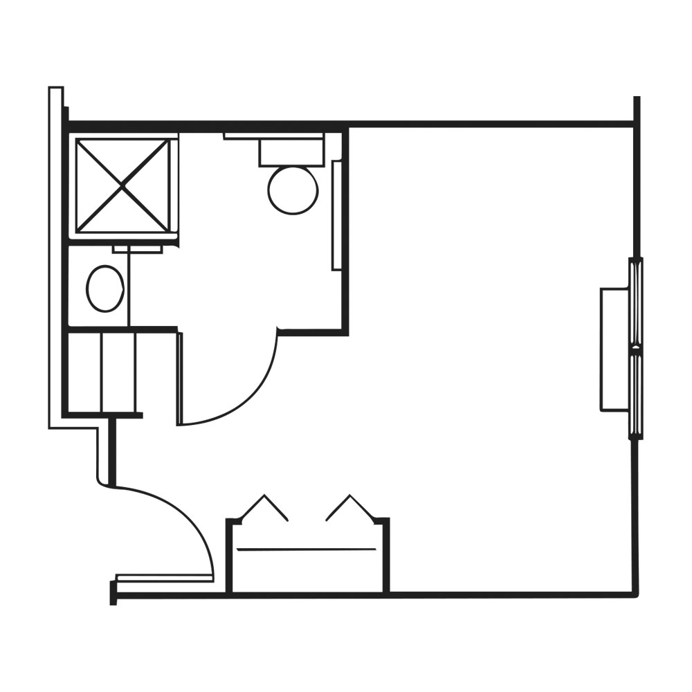 The Pinnacle of Southaven floor plan of private suite
