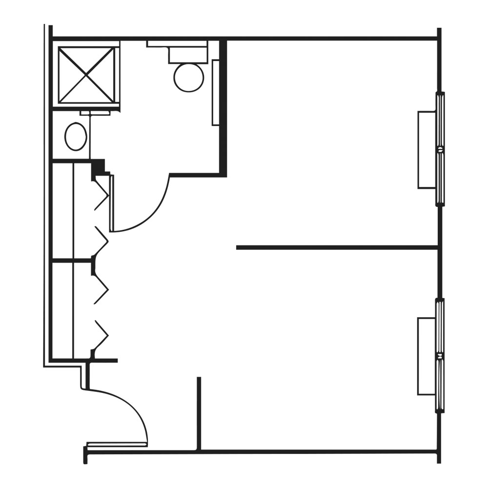 The Pinnacle of Southaven floor plan of two room suite